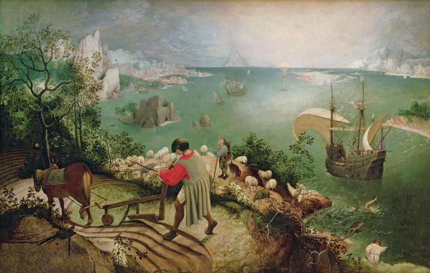 Pieter Bruegel - Landscape with the Fall of Icarus (c.1555)