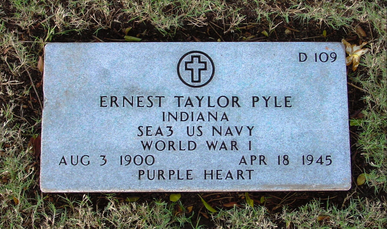 Ernie Pyle's Gravestone
